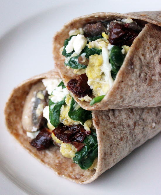 Protein full spinach and feta wrap. Pin Me!